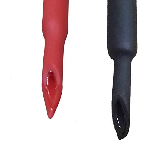 k Tubing 3:1 Ratio Heat Activated Adhesive Glue Lined Marine Shrink Tube Wire Sleeving Wrap Protector Black and Red, 2 Pack, 1.2M/4FT (Dia 15.4mm (5/8