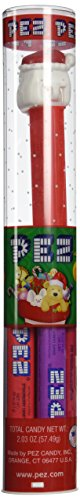 PEZ Reindeer Dispenser Holiday Santa Clause Tube w/ 6 Candy Refills