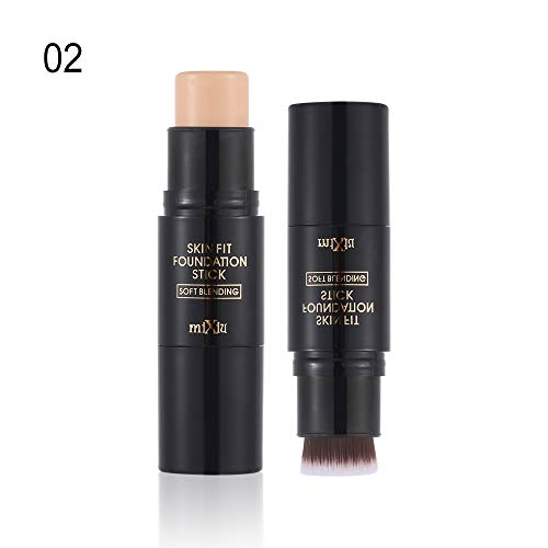 - Magic Base Make Up with brush Corrector Face Contour Foundation Hide Blemish Highlight Contour Pen Highlighter Stick Concealer Cream