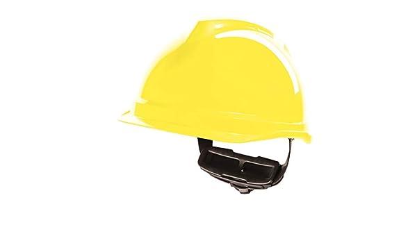 MSA V-Gard 520 Peakless Casco de Seguridad Duro 9 Colores de Banda para el Sudor, Amarillo: Amazon.es: Bricolaje y herramientas