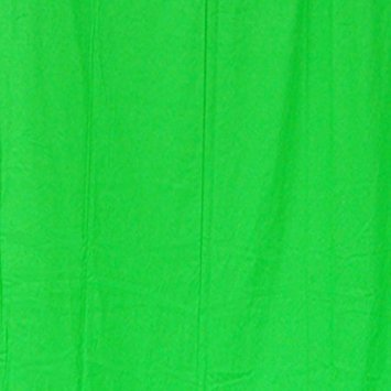 StudioFX 6x9 Chromakey Green Muslin Backdrop 100% Cotton Machine Washable Photography Photo Video Green Screen (6ft x ()