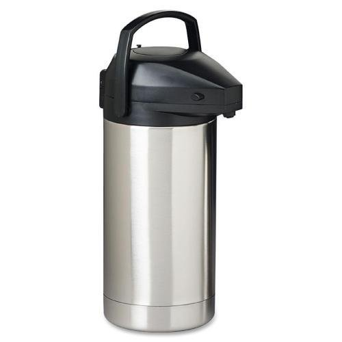 SV-350 Hormel Commercial Grade Insulated Jumbo Airpot - Stainless Steel, ABS Plastic - 1 Each