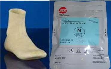 STS Foot Orthotics Casting Impression Ankle Sock Foot Mold 900-M MEDIUM - ONE SOCK -