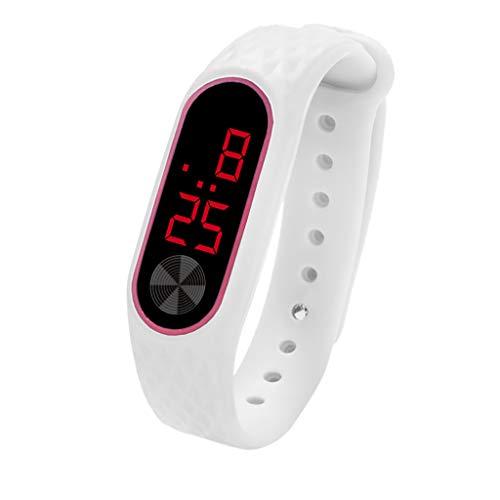 YEZIJIN LED Digital Display Bracelet Watch Children's Students Silica Gel Sports Watch Under 10