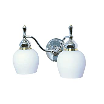 Moen 18010 16 Monticello Vanity 2 Light Opal White Glass with