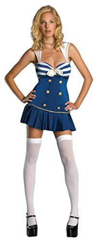 Rubies Womens Uniforms Anchors Away Navy Retro Sailor Theme Party Fancy Costume, XS (4-6) (Retro Sailor Costume)