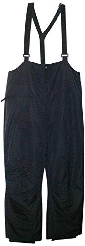 Pulse Mens Big Sizes Technical Suspender Skiing Pants Snow Bibs (4X, Black)