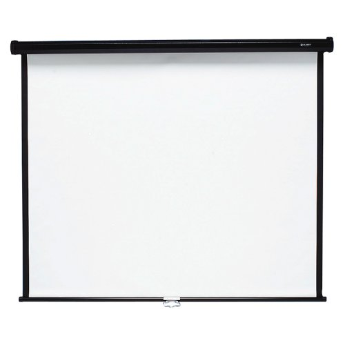 Quartet 670S Wall or Ceiling Projection Screen, 70 x 70, White Matte, Black Matte Casing by Quartet