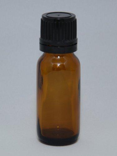 Amber Glass Bottle Dropper Black product image