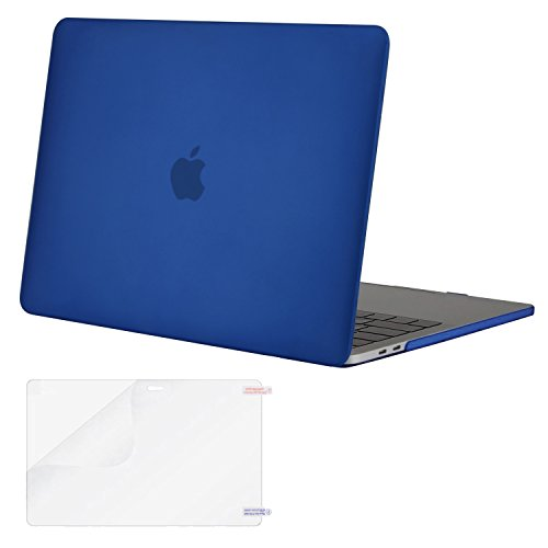 MOSISO MacBook Pro 13 Case 2018 2017 2016 Release A1989/A1706/A1708, Plastic Hard Shell Cover with Screen Protector Compatible Newest MacBook Pro 13 Inch with/Without Touch Bar, Royal Blue