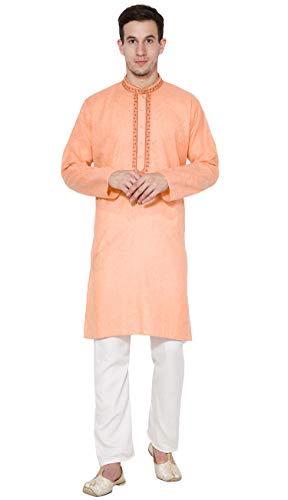 Mens Kurta Pajama Long Sleeve Cotton Shirt Pyjama Set Christmas Party Clothing Indian Dress