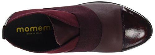 MOMEM Women's Hin00427 Ankle Boots, Black Red (Burdeos 041)