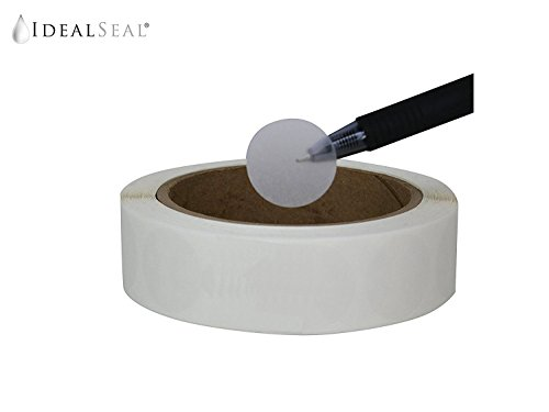(Wafer Seals, Envelope Seals, Mailing Seals,1 inch Diameter, Translucent, Great to Seal Folded Self-Mailers, Booklets and Catalogs, 1500 Labels per)