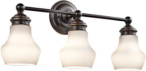 Hampton Bay 3 Light Bronze Bath Light 25107: Kichler Lighting 45488ORZ Currituck 3LT Vanity Fixture