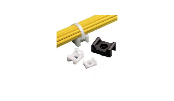 For Miniature Cable Ties 100 pack Indoor Panduit TM1S4-C Cable Tie Mount
