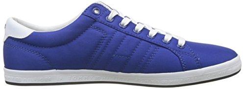 Tommy Hilfiger Herren Essenziale Bandiera Dettaglio Sneaker Blau (blu Monaco 408)