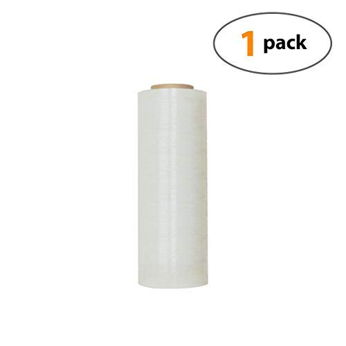 """18"""" X 1000 Feet Industrial Strength Pallet Clear Shrink Wrap 6.75 Lb Per Roll Thick 80 Gauge(20 Micron) Heavy Duty Self-Adhesive Durable Cling Stretch Film Wrap Packing Moving Box Furniture (1 Roll)"""