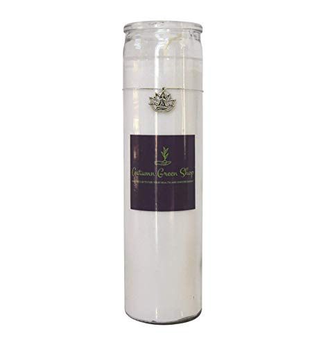"White Candle - Lotus/Charm - Meditation, Spiritual, Yoga to Bring in Peace, Calm, Hope, Enlightenment, Healing and Purification - One White 8"" Unscented Cylinder Glass Jar Candle. (candles can vary slightly in color) Burn to bring in peace, calmness, hope, enlightenment, healing and for purification. The Candle can also be used for intentions of safety, understanding, light, spirituality, possibility, humility, new beginnings, and protection. - living-room-decor, living-room, candles - 31vGZDwV7RL -"