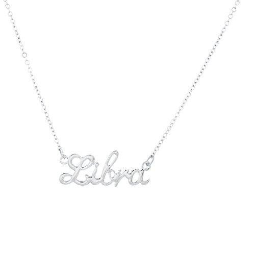 Zodiac Libra (Lux Accessories Horoscope Zodiac Sign Libra Silvertone Necklace)