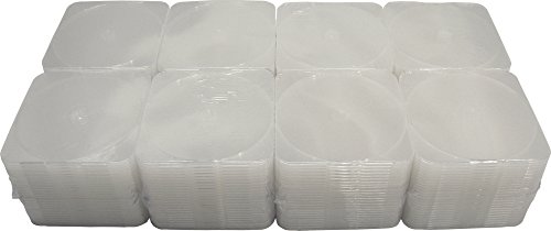 ((200) Slim Single Clear 4mm Clamshell CD Cases)