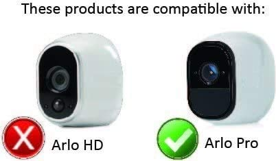 3 x Silicone Skins for Arlo Pro Smart Security - 100% Wire-Free Camera Skins by Wasserstein (3 Pack, Black/Brown/Grey)