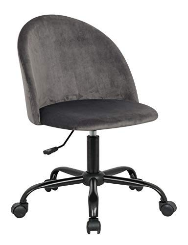 Home Office Desk Chair Table Chair Flannel Swivel Chair Mid Back Drafting Stool with Strong Black Chrome Legs – Height Adjustable Comfort Seat Bar Salon Spa