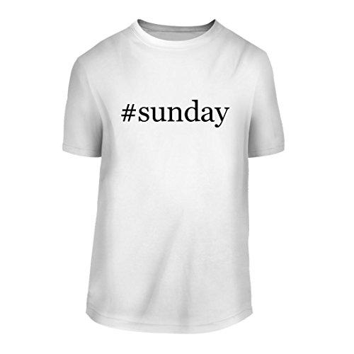 #Sunday - A Hashtag Nice Men's Short Sleeve T-Shirt Shirt, White, Large