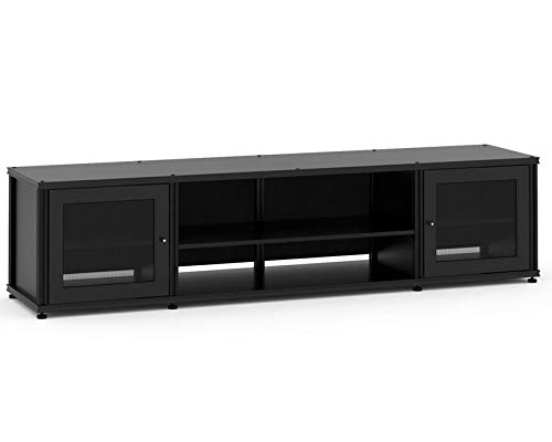 (Salamander Designs SB248B/B Synergy Quad Model 248 Cabinet  - Black with Black Posts)