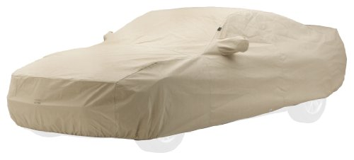 (Custom Car Cover: 2005-13 Fits Chevrolet Corvette Coupe, C6 (Grand Sport) (Evolution, Tan) (C16603TK))