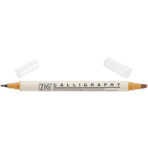Zig Memory System Calligraphy Dual Tip Marker, Carded, Wheat