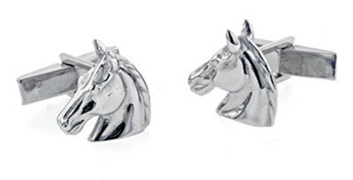 - JJ Weston Sterling Silver Horse Head Cufflinks. Made in the USA