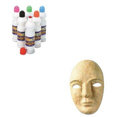 KITCKC2400CKC4190 - Value Kit - Creativity Street Paper Mache Mask Kit (CKC4190) and Creativity Street Sponge Paint Set (CKC2400)