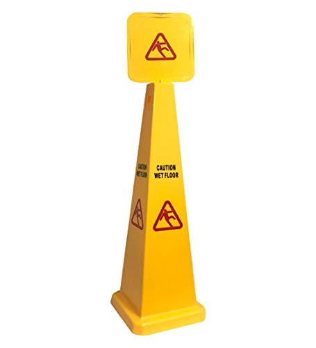 Wet Bilingual Floor Cone - Wet Floor Cone Sign | 290390EA-BAI