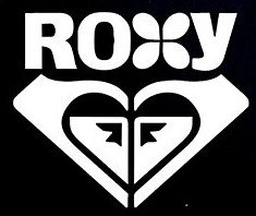 Roxy Logo Decal Vinyl Sticker|Cars Trucks Vans Walls Laptop| WHITE |5.5 x 4.75 in|CCI787