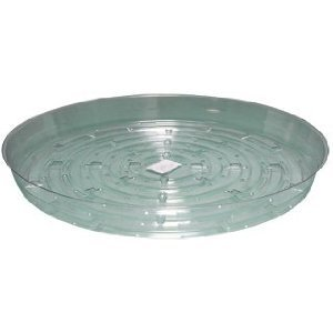 Hydrofarm HGS6 Clear 6-Inch Saucer, pack of 25
