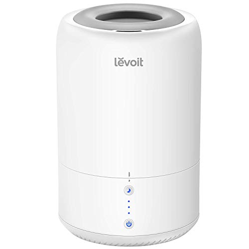 LEVOIT Cool Mist Humidifiers for Bedroom, Top Fill Ultrasonic Air Humidifier & Essential Oil Diffuser for Home, Office, Baby, Smart Sleep Mode, Last up to 20H, Auto Shut Off(1.8L/0.48Gal, 110V-240V)