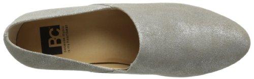 Bc Calzature Donna Prendi Un Fiocco Metallizzato Argento Oxford Metallizzato