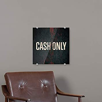 CGSignLab Cash Only Ghost Aged Rust Premium Acrylic Sign 16x16
