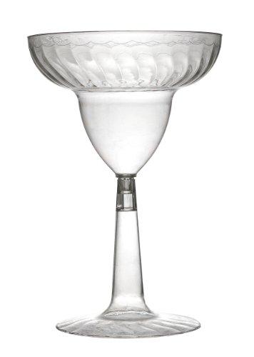 Fineline Settings 12-Piece Flairware2-Piece Margarita Glass, 12-Ounce, Clear by Fineline settings