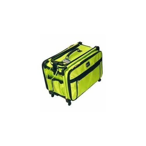 Image of Carrying Cases Lime Green Medium Mascot Tutto Machine on Wheels Sewing Carrier Case