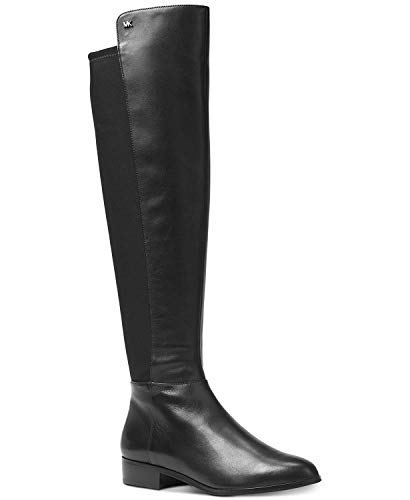Michael Kors Women's Tall Leather Bromley Flat Boots (7, Black) ()