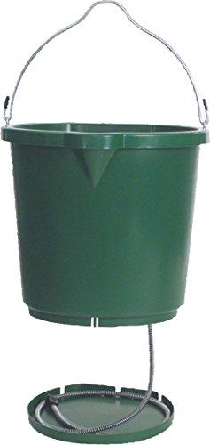 Buckets Heated Horse (DPD Oversized Heated Flat-Back Bucket - 5 Gallon - Green - 1 Bucket)