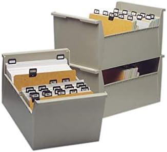 VAL-REX - Caja para tarjetas, A5, horizontal, color beige, vacía ...