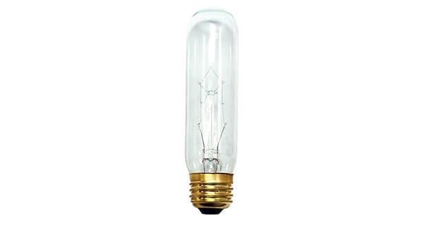 120V 4 Clear Bulbrite B60T10C 60-Watt Incandescent T10 Tubular Bulb