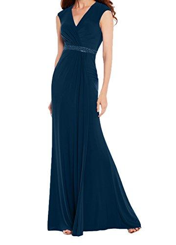 Lang Royal Tinte Charmant Abendkleider Blau Chiffon Blau Abschlussballkleider Festlichkleider Damen Etuikleider Promkleider 6nz16