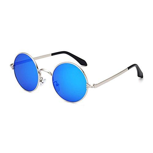 Unisex De Protección 5 1 Reflejo Retro YQ Sol Marco Anti Protección QY Gafas UV Solar Color Clásico Redondo vxwHqC6I