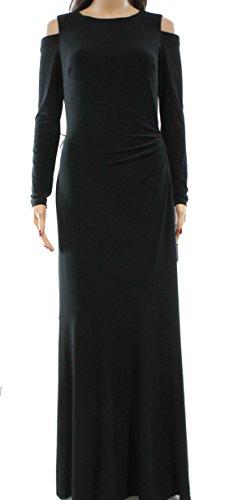 Lauren Ralph Lauren Womens Cold-Shoulder Maxi Dress