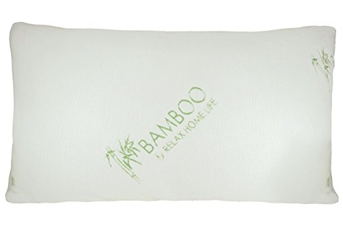 Bamboo By Relax Home Life - Bamboo Pillow With Shredded Down Alternative and Stay Cool Cover (Queen)