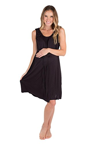 Baby Be Mine 3 in 1 Labor/Delivery / Nursing Gown Maternity (S/M, Black) by Baby Be Mine