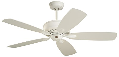 (Emerson Ceiling Fans CF901SW Prima Energy Star Ceiling Fan With Wall Control, Light Kit Adaptable, Satin White Finish)